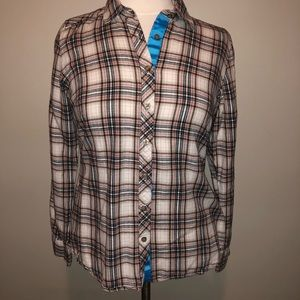 Eddie Bauer Flannel Button up Top